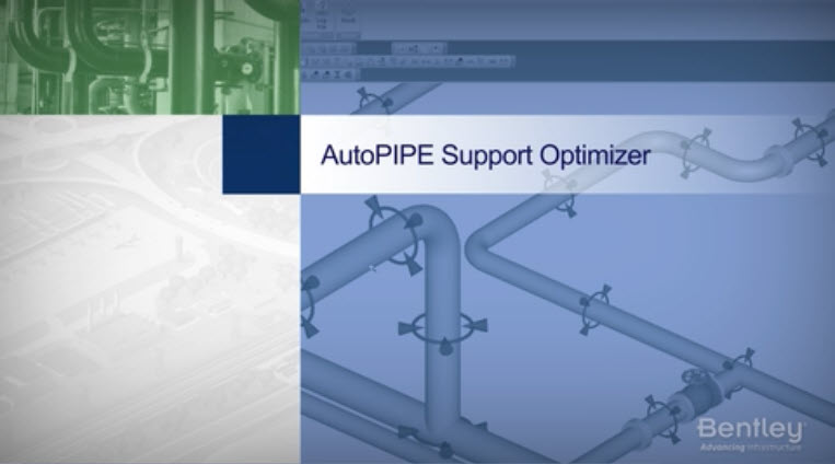 AutoPIPE Pipe Support Optimizer Video Thumbnail