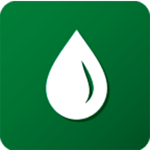 green icon of water droplet