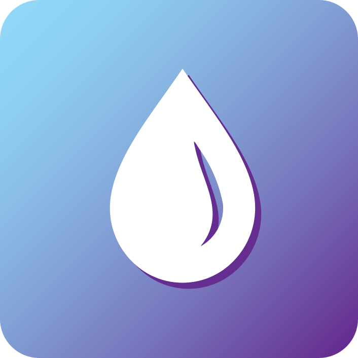 gradient icon of water droplet