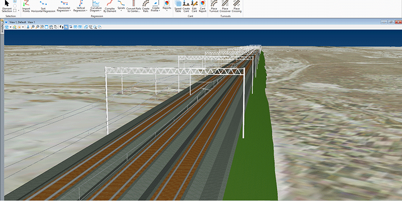 rail overhead line systems modeling
