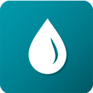 icon water droplet teal