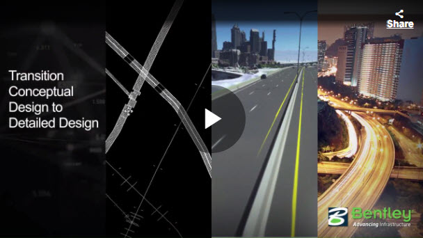 OpenRoads ConceptStation - Trasition Conceptual Design to Detailed Design